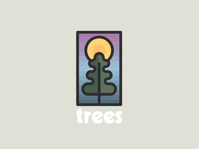 Trees logo outdoors woods forest trees drawing draw icon illustrate illustration identity brand badge design graphic design logo