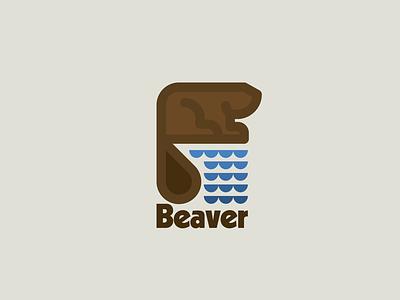 Beaver logo nature wildlife beaver drawing draw icon illustrate illustration identity brand badge design graphic design logo