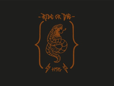 TMPL Ride or Die badge fixedgear snake icon set brand drawing draw badge logo identity illustration illustrate graphic design design