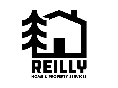 Logo for Reilly Home & Property Services lical business business local black and white logo blackandwhite icon brand drawing draw badge logo identity illustration illustrate graphic design design