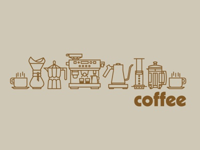 Coffee icons coffeeshop coffee iconset icons brand drawing draw badge logo identity illustration illustrate graphic design design