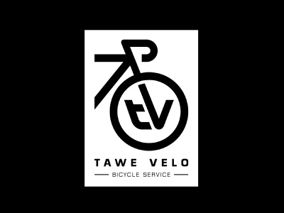 Tawe Velo logo local business cycle service cycle bicycling bicycle bike icon brand drawing draw badge logo identity illustration illustrate graphic design design