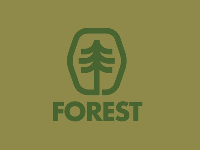 Forest logo 🌲 explore hike outdoors woods forest trees icon brand drawing draw badge logo identity illustration illustrate graphic design design