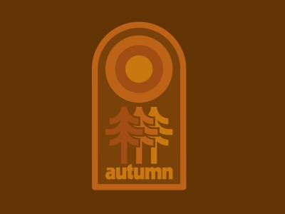 Autumn badge nature outdoors autumn trees flatdesign icon brand draw badge logo identity illustration illustrate drawing graphic design design
