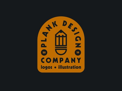 Plank Design Company badge flat design vector graphic designer branding brand drawing draw badge logo identity illustration illustrate graphic design design