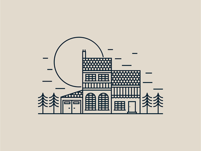 House illustration home house drawing draw icon illustrate llustration identity brand badge design graphic design logo