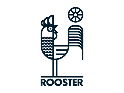 Rooster illustration wildlife nature farm animal rooster drawing draw icon illustrate llustration identity brand badge design graphic design logo