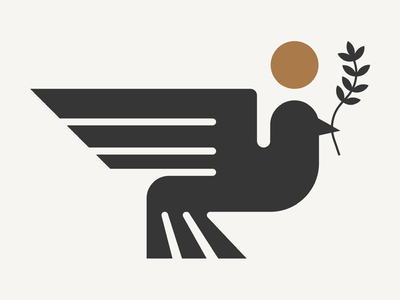 Peace peace wildlife nature bird drawing draw icon illustrate llustration identity brand badge design graphic design logo