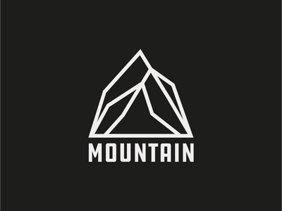 Minimal Mountain logo adventure climb hike explore outdoors mountain drawing draw icon illustrate llustration identity brand badge design graphic design logo