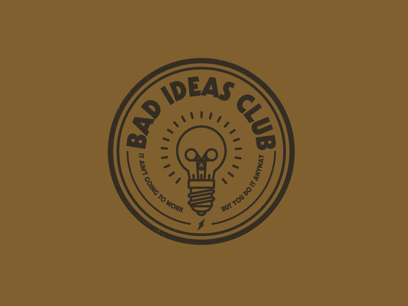 Bad Ideas Club logo skull drawing draw icon illustrate illustration identity brand badge design graphic design logo