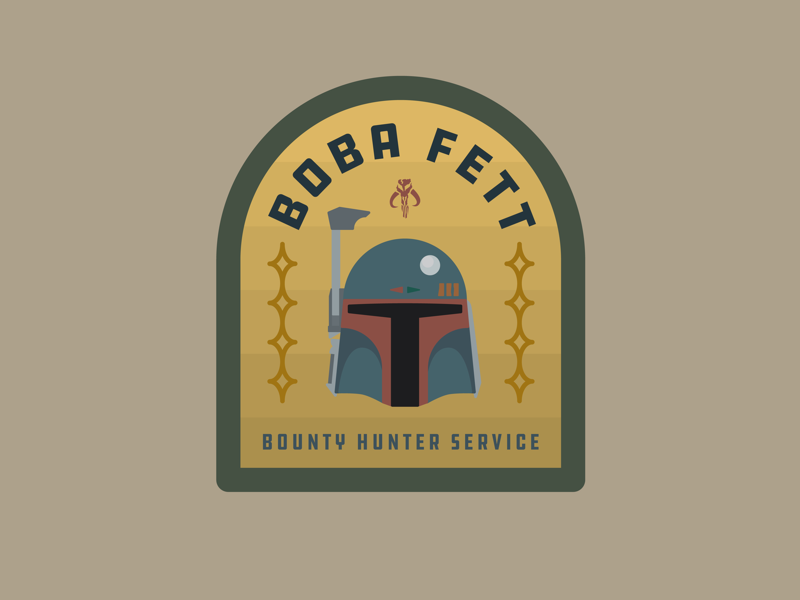 Boba Fett logo boba fett star wars drawing draw icon illustrate illustration identity brand badge design graphic design logo