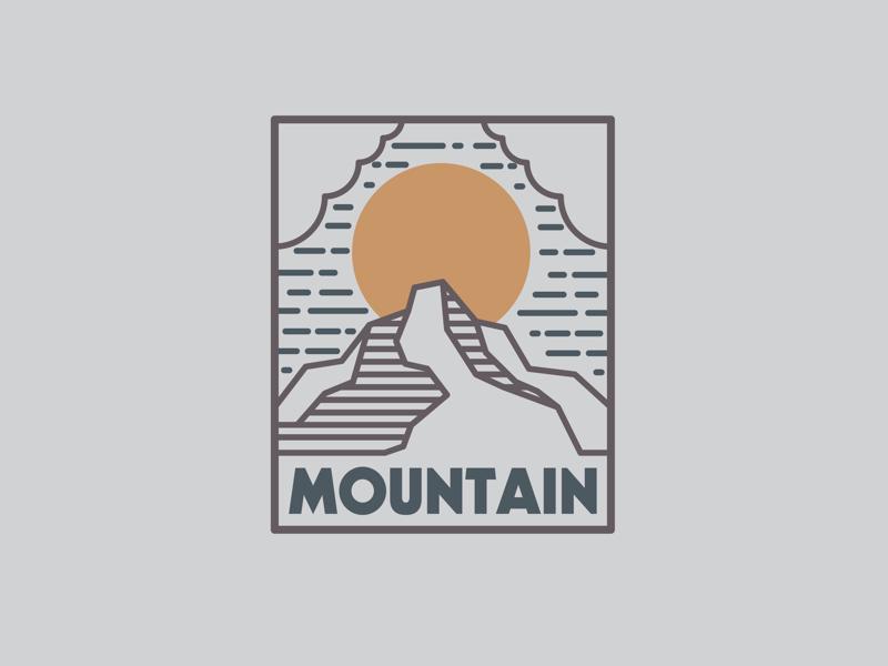 Mountain logo adventure outdoors hike mountain drawing draw icon illustrate illustration identity brand badge design graphic design logo