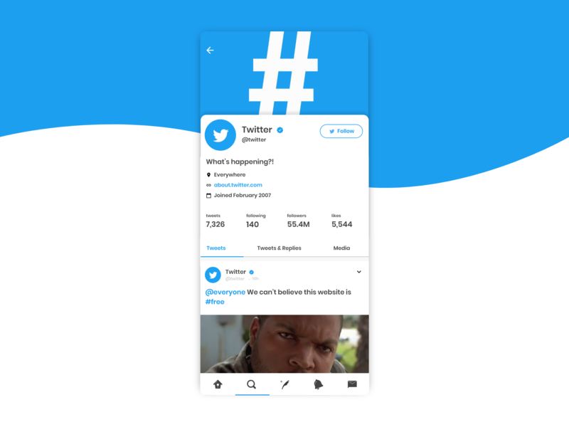 Twitter App Redesign by funny on Dribbble