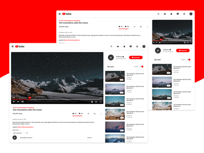 YouTube Redesign Concept adobe web material youtube design 2d ui redesign