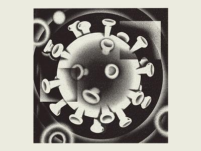 PostLife 06 editorial dystopia utopia virus covid corona abstract procreate digital art illustration