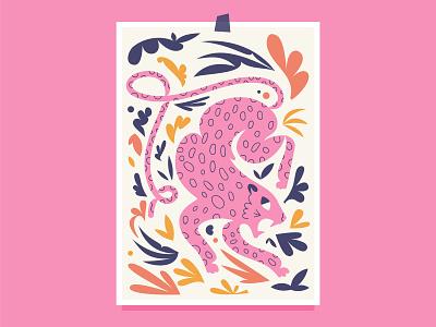 Jaguar vector animal abstract digital art plants illustration cat drawing jaguars wild cat cat jaguar