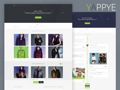 """""""Yappye"""" Clean Shopping - PSD Template psd template store shop online design modern simple clean flat ios 7 style"""
