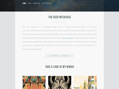 Blogfolio - Blog & Portfolio Template blog portfolio template design clean simple flat modern blue white website