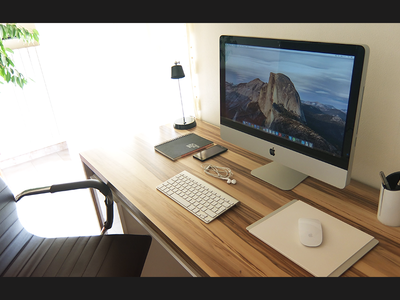 My Workspace workspace work minimal design inspiration apple