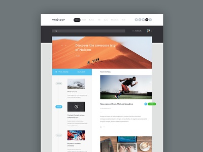 Newspaper Theme theme template clean simple colorful news psd