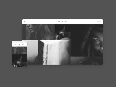 Portfolio template theme responsive masonry modern white black simple elegant minimal portfolio