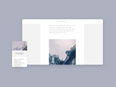 Blog template theme responsive white simple elegant minimal blog