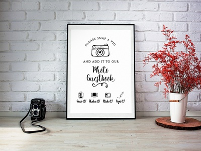 Photo Guest Book Poster photo book guest book wedding branding design brochure design graphic  design