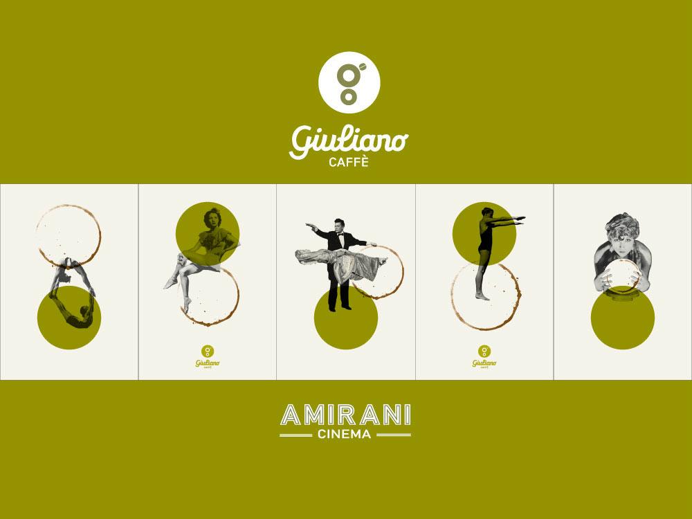 Giuliano Caffe Branding  in Amirani Cinema, Georgia graphic  design branding logo