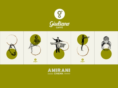 Giuliano Caffe Branding  in Amirani Cinema, Georgia georgia jiuliano caffe cinema amirani graphic  design branding logo