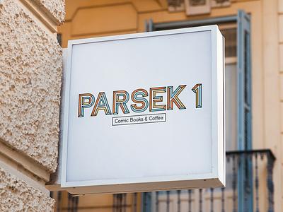 Parsek 1 - Comic Books & Coffee georgia branding vector typography graphic design logo