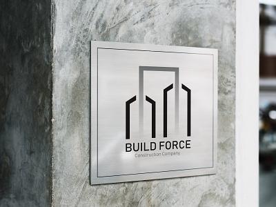 Build Force - logo mockup vector graphic design logo