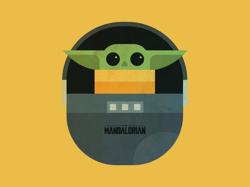 Baby Yoda tbilisi georgia star wars flat illustration design flatdesign illustrator flat mandalorian babyyoda