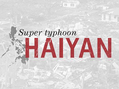 Typhoon Haiyan Graphic for iPad Magazine 1/2 magazine logo typhoon ipad destruction texture