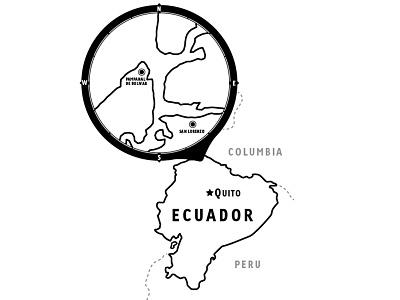 Ecuador Refinements map