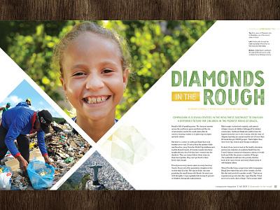 Diamonds In The Rough magazine layout brazil diamonds