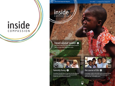 Inside Compassion iPad Table of Contents magazine layout ipad table of contents toc