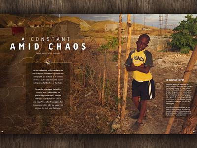 Constant Amid Chaos magazine layout photo essay haiti