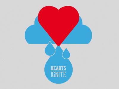 Hearts Ignite wild fire colorado t-shirt logo