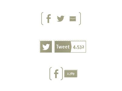 F Bird Letter social media icons