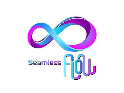 Seamless Flow seamlessflow seamless flow business logo design logodesign design logo graphic  design grapic design