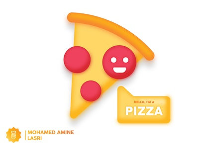 Hello I'm A Pizza master color gigantic illustrator italy pizza italy pizza kit food kit food and beverage food and drink food art food app food pizza icon pizza menu pizza logo pizza hut pizza box hello dribbble hello pizza