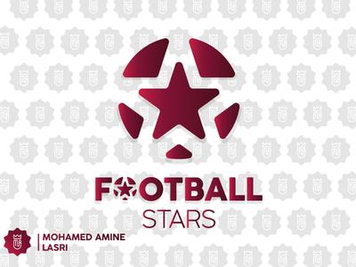 Football Stars - Logo For Sell foot clan ball football logo football helmet football club football app football footbal foot illustration branding design brand illustrator design branding brandidentity