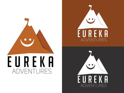 Eureka Adventures Logo Concept 1 | In Multiple Backgrounds.