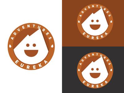 Eureka Adventures Logo Concept 2 In Multiple Backgrounds.