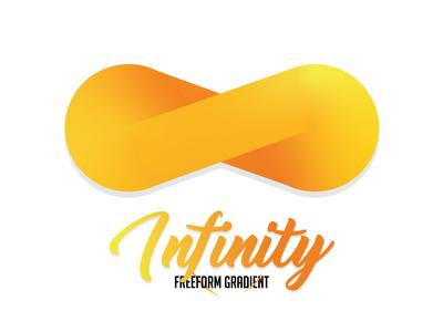 Infinity | FreeForm Gradient First Test. orange gradient gradient color gradient logo gradients gradient icon infinity logo icon vector typography gradient infinity war freeform