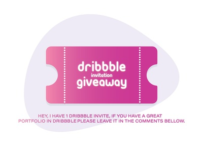 Dribbble Invitation Give Away