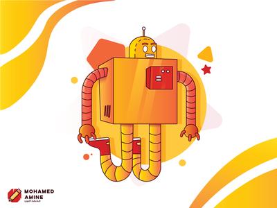 Robot Illustration! gigantic design vector art direction architecture artwork artist art illustration art illustrations illustraion illustrator robotics robotic roboto robots robot illustration