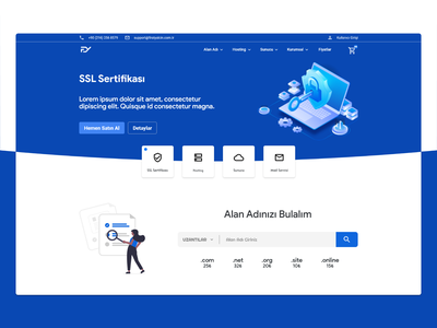 Web Hosting Landing Page landing page landingpage material template hosting whmcs web interaction interface ux ui design minimal flat