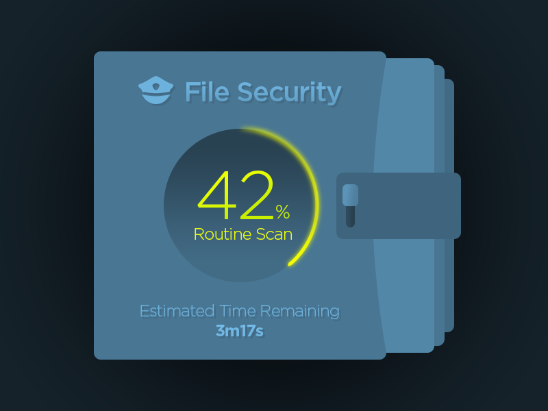 File Security Background Task Module remaining time percent scan file loading loader security