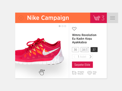 Private Shopping Club Product Page orange ping add to basket buy commerce selling sneakers shoes nike product